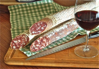 Nostrano Salami at Cheese and Crackers Champaign Urbana IL