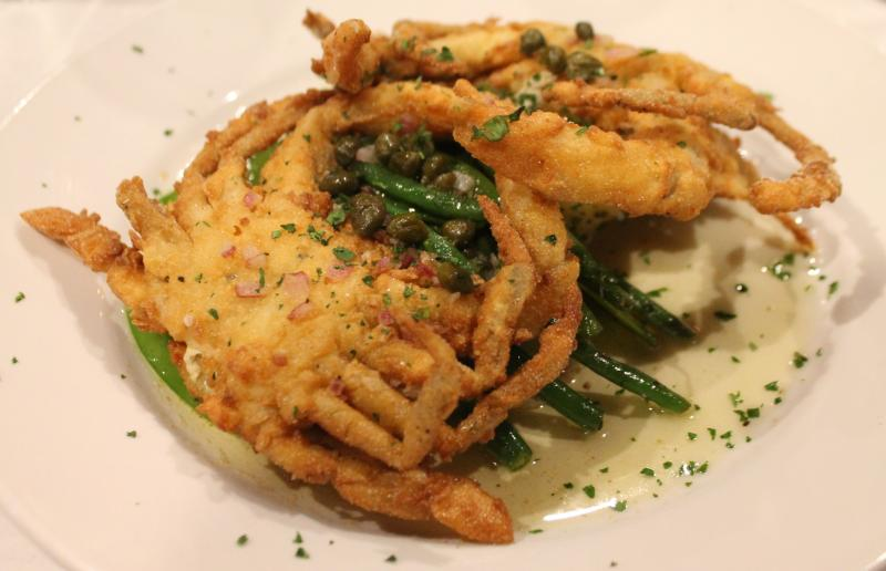 Live Softshell Crabs at Cheese and Crackers